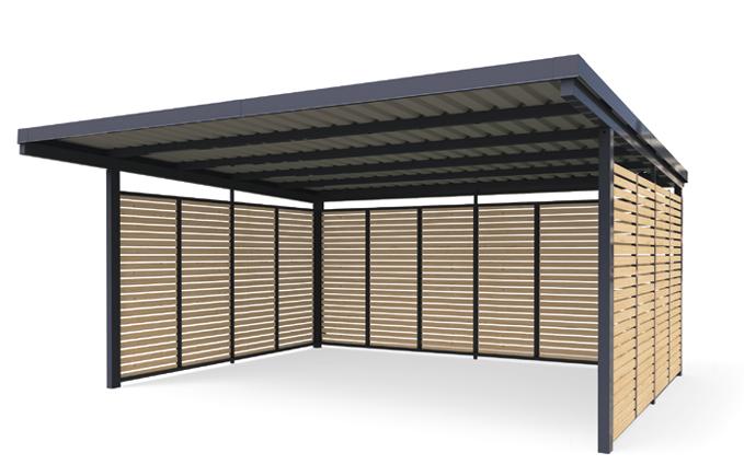 carport holz metall vom hersteller kaufen gerhardt braun. Black Bedroom Furniture Sets. Home Design Ideas